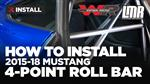 How To Install Watson Racing Mustang Bolt-In Roll Bar (2015-2020)
