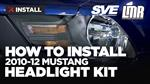 2010-2012 Mustang SVE Matte Black Headlight Kit - Install & Review